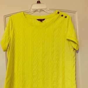 Chartreuse color blouse